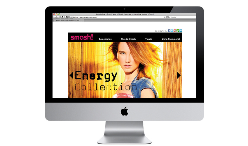 Diseño web, www.smash-wear.com